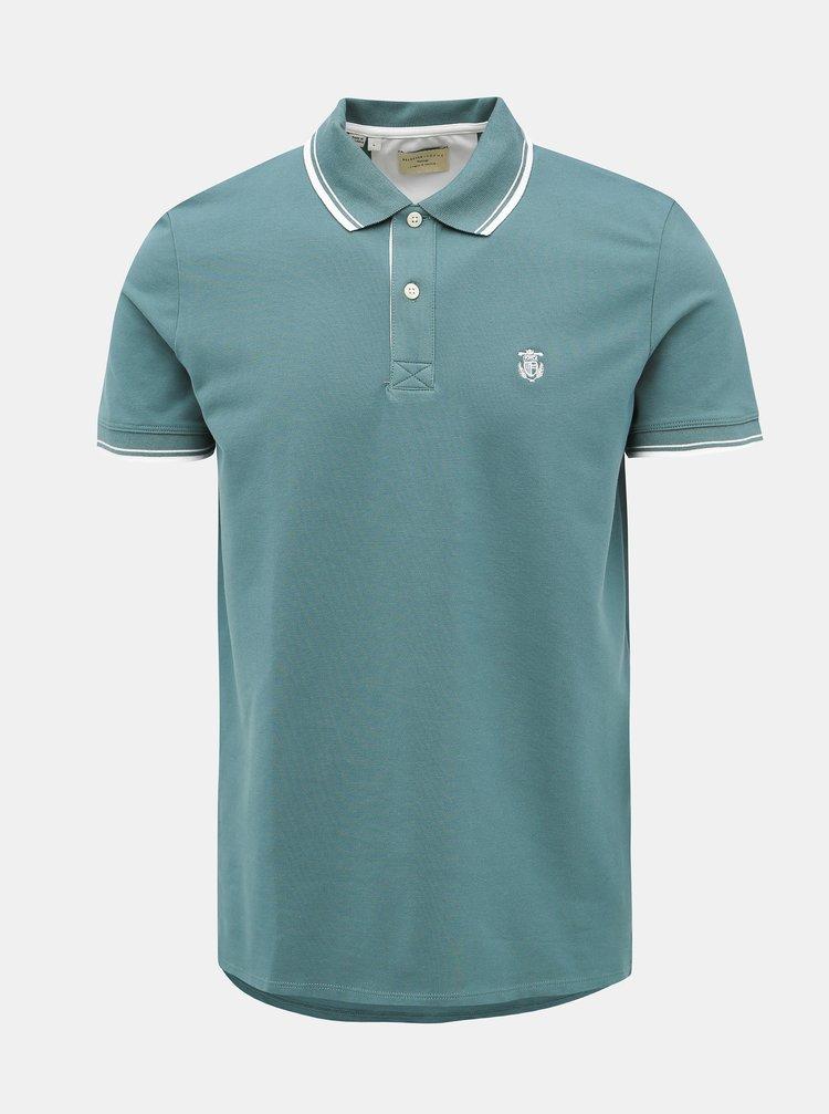 Zelené polo tričko Selected Homme