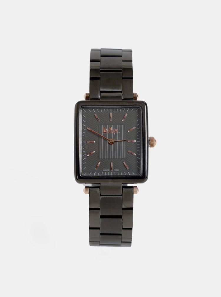 Dámské hodinky s černým kovovým páskem Lee Cooper