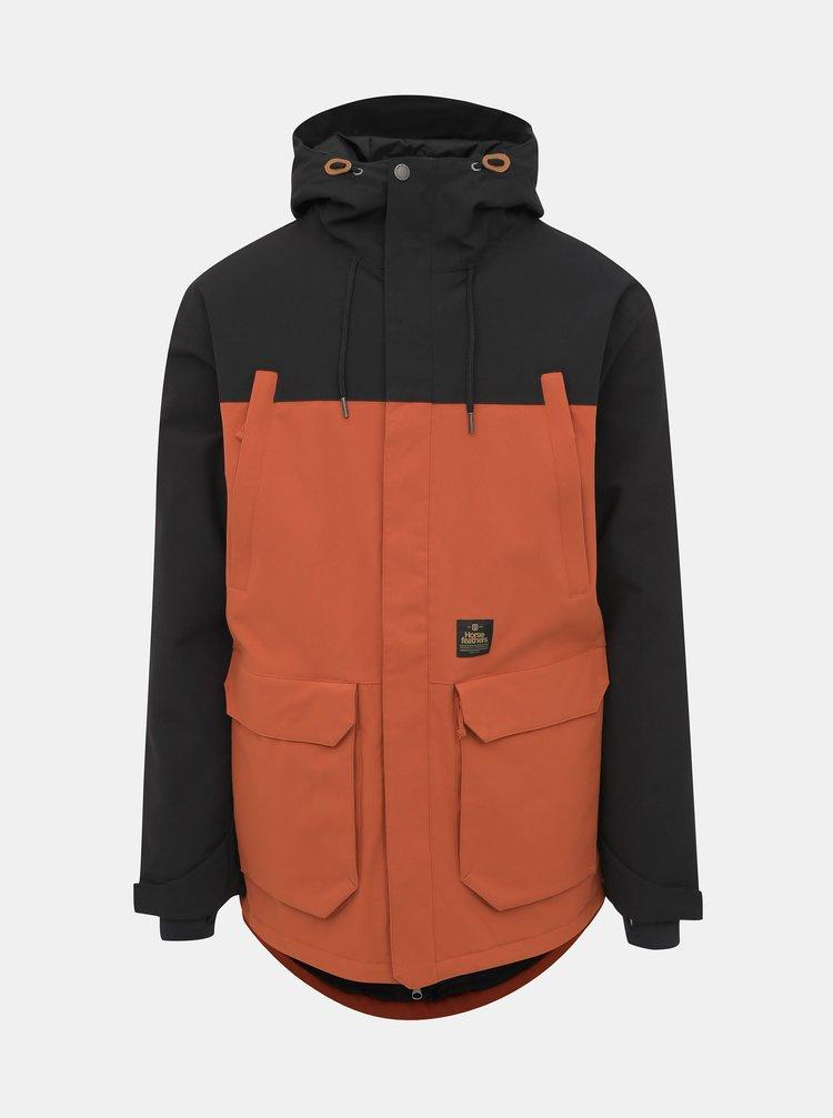 Oranžová pánska funkčná zimná bunda Horsefeathers Cordon