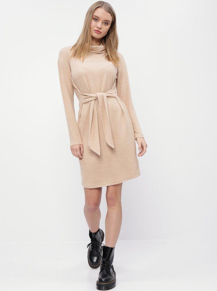 Béžové svetrové šaty M&Co