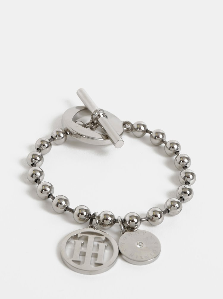 Dámský nerezový náramek ve stříbrné barvě Tommy Hilfiger