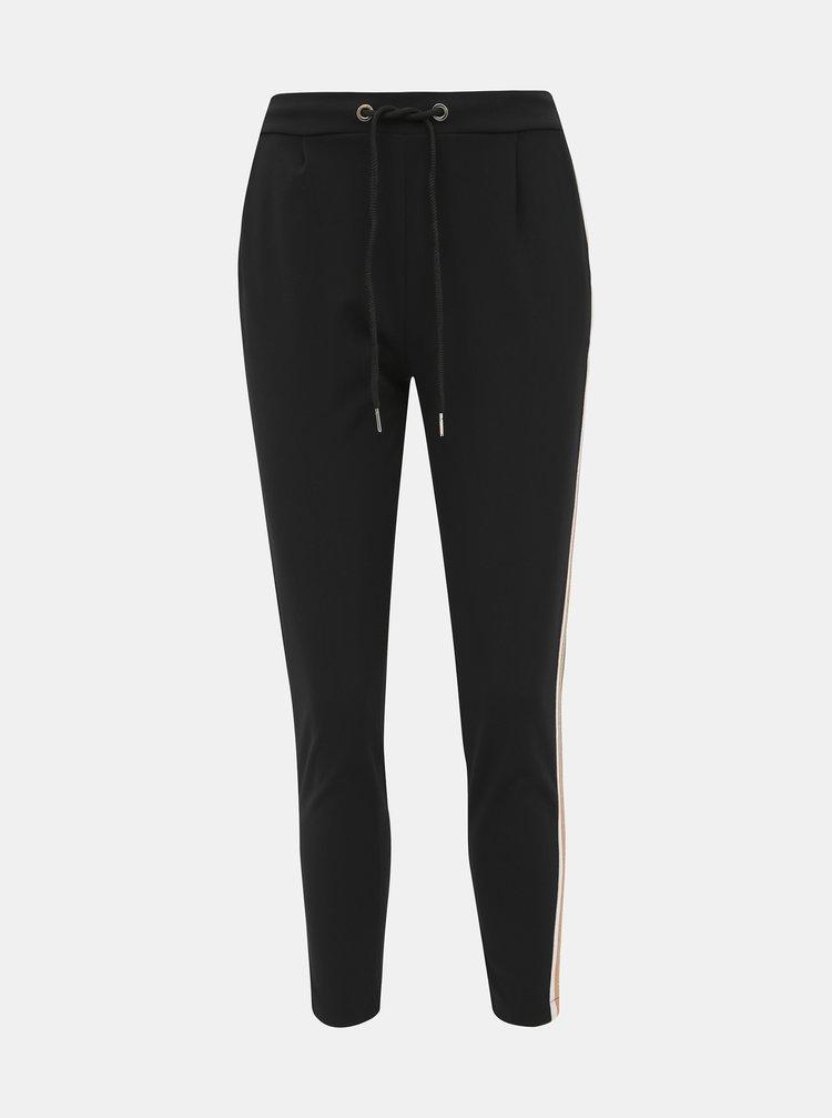 Čierne dámske skrátené nohavice s pásom Haily´s Greta