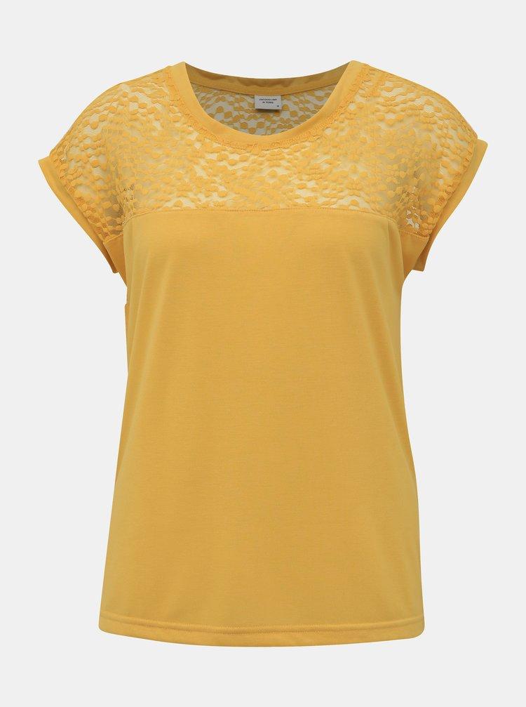 Žlutá halenka s krajkou Jacqueline de Yong Kamira