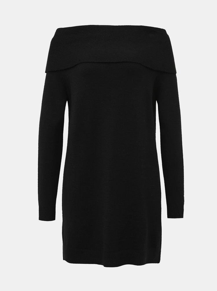 Černé svetrové šaty ONLY Kaysa