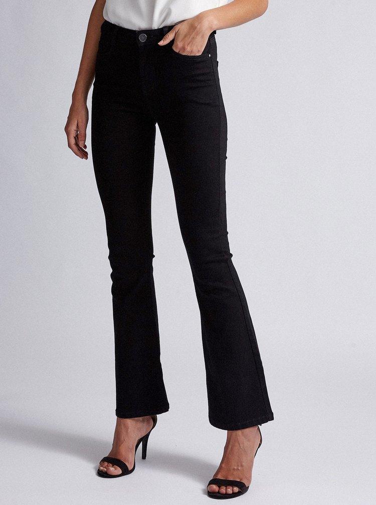 Černé flared fit džíny Dorothy Perkins Shape & Lift