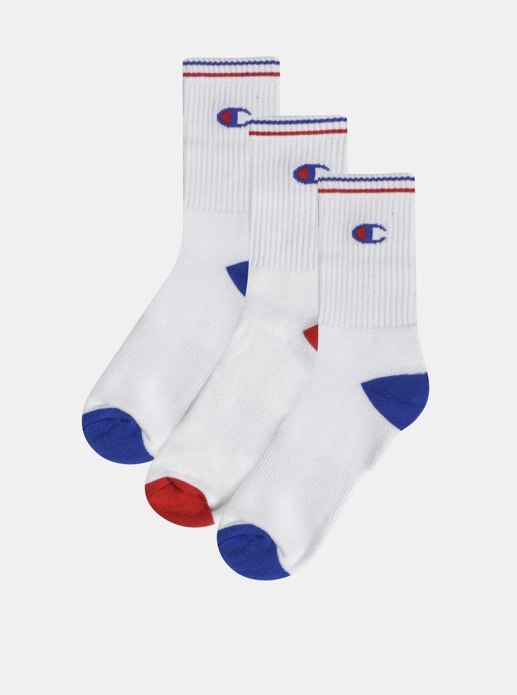 Sada tří párů bílých ponožek Champion