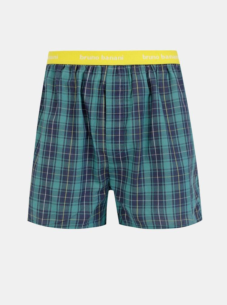 Žluto-zelené kostkované trenýrky Bruno Banani