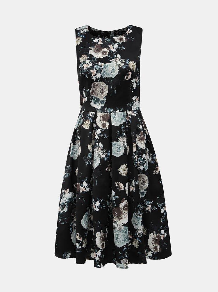 Černé květované šaty Dolly & Dotty Annie