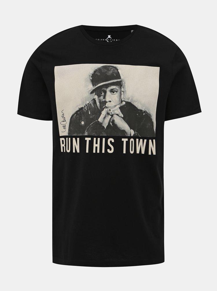 Černé pánské tričko s potiskem ONLY & SONS