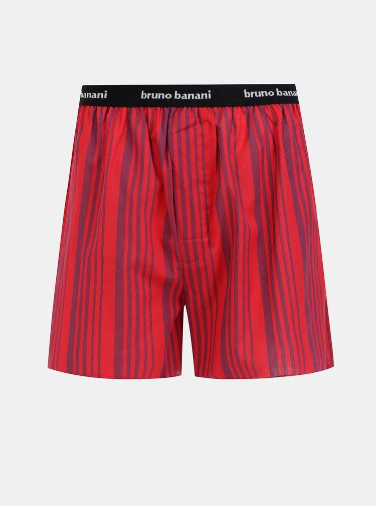 Červené pruhované trenýrky Bruno Banani