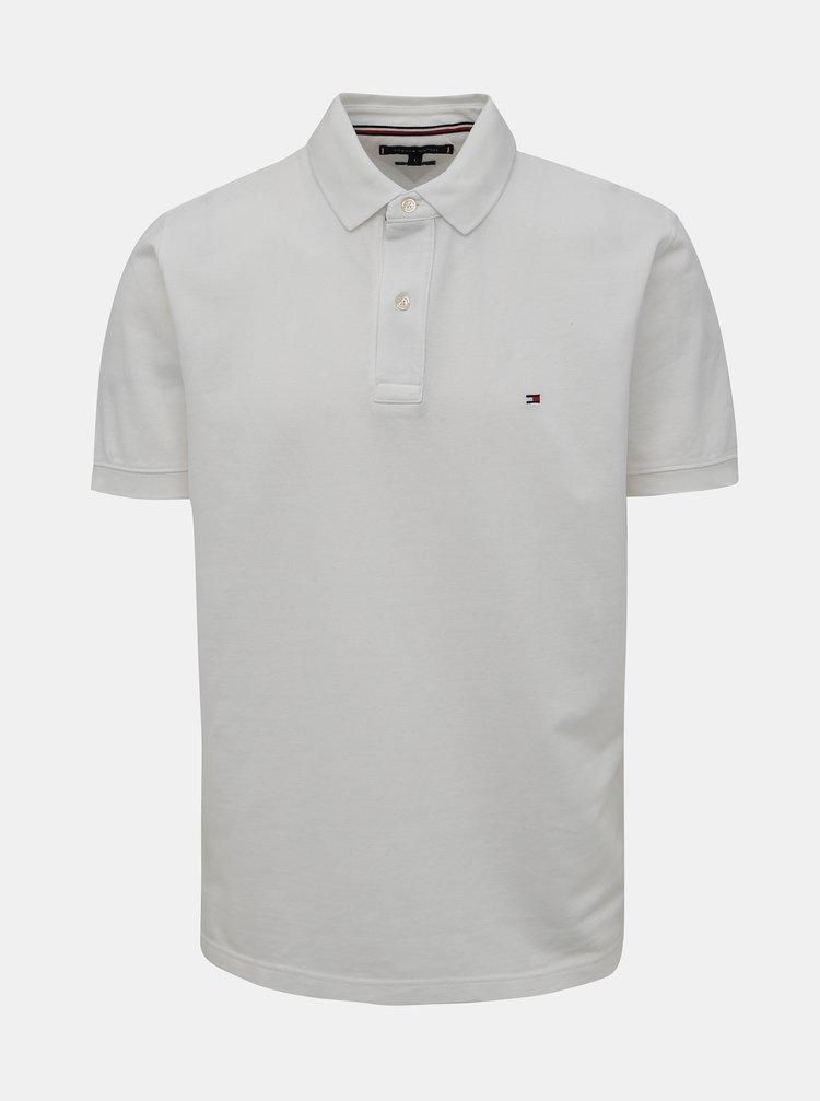 Bílé pánské basic polo tričko Tommy Hilfiger