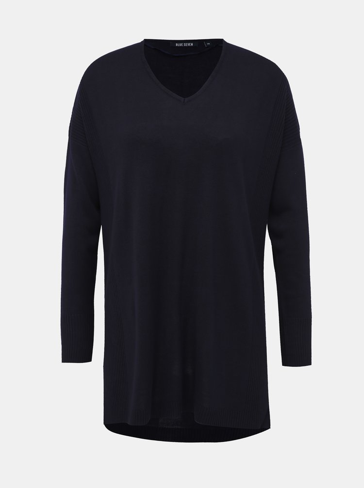 Tmavomodrý dámsky sveter Blue Seven
