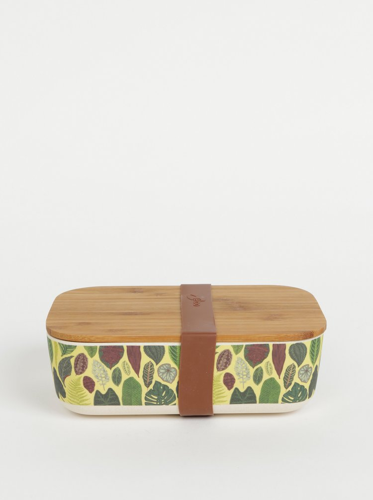 Zelený vzorovaný box na jídlo Tranquillo Home Botanical Garden