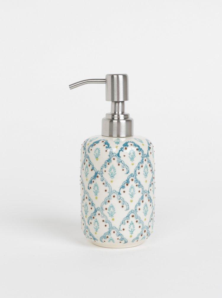 Krémový vzorovaný dávkovač na mýdlo Tranquillo Naila 300 ml