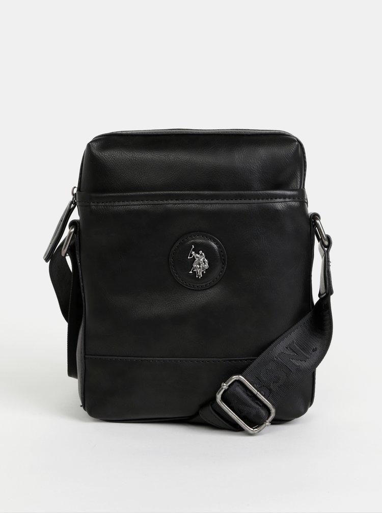 Černá crossbody taška U.S. Polo Assn. Scottdale