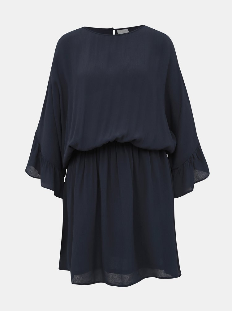 Tmavomodré šaty VILA Lisett