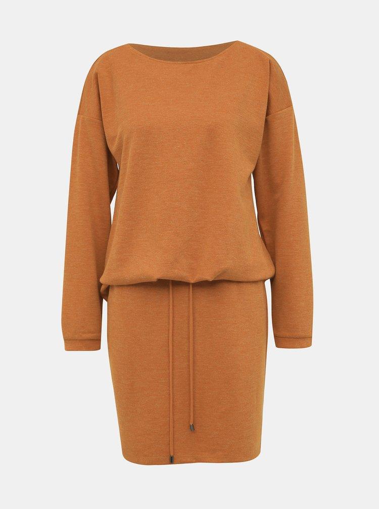 Oranžové mikinové šaty VERO MODA Nora
