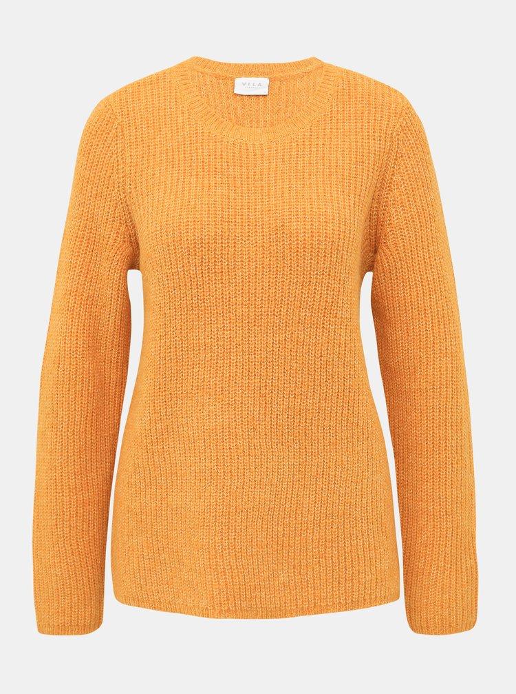 Oranžový basic svetr s příměsí vlny VILA Good