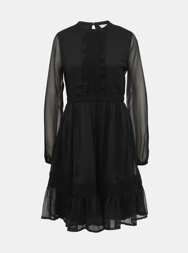 Černé šaty s krajkou VILA Haldi