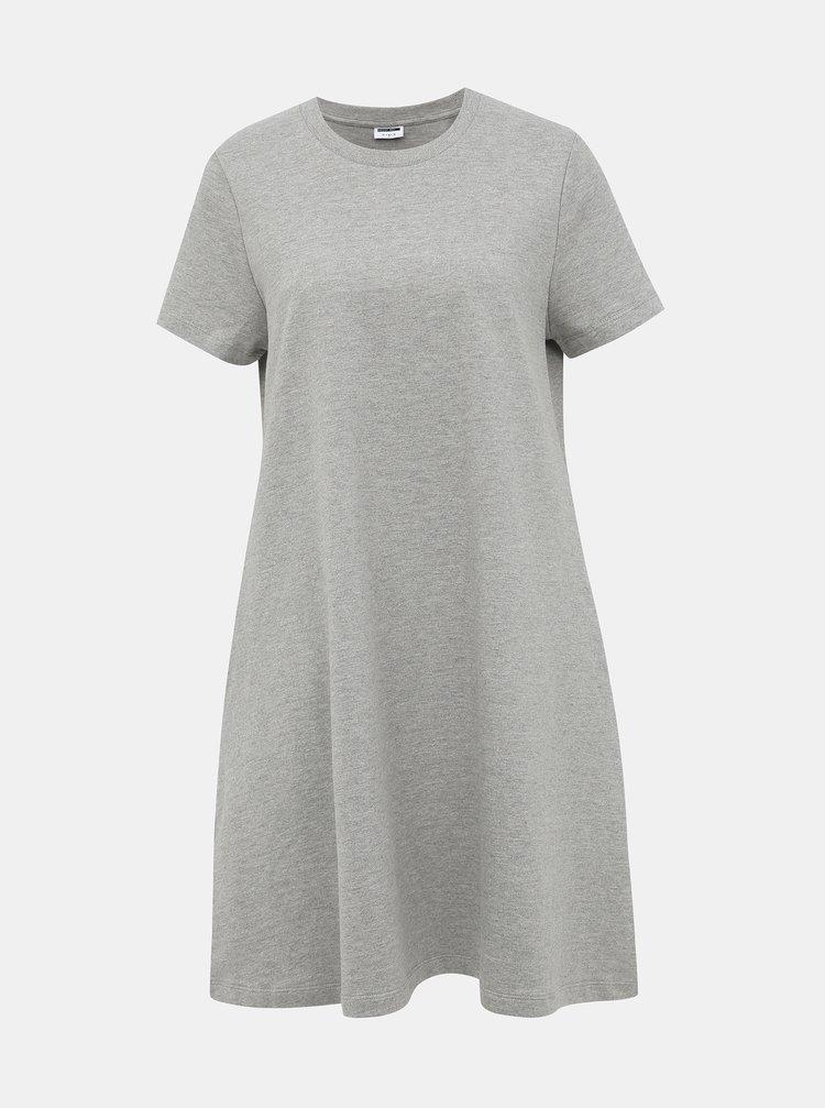 Šedé basic šaty Noisy May Luni
