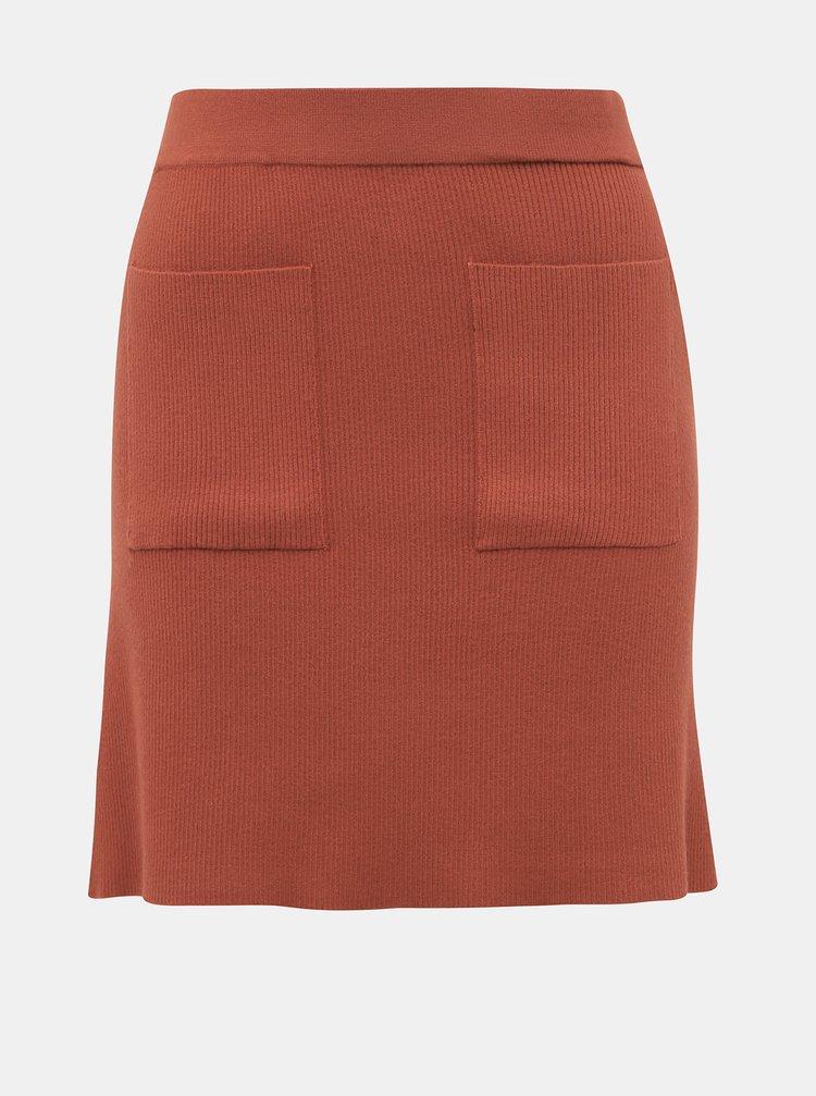 Tehlová svetrová sukňa Noisy May Ship