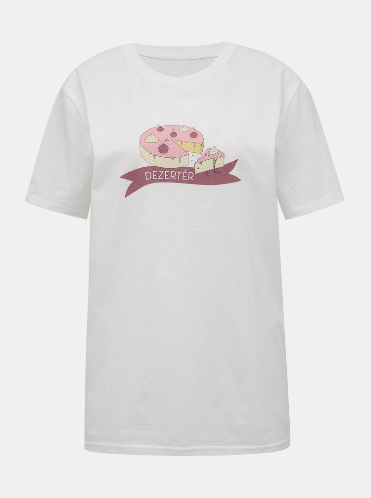 Bílé tričko s potiskem ZOOT Original Dezertér