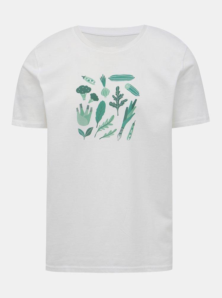 Bílé tričko s potiskem ZOOT Original Zelenina, kterou nemá nikdo rád