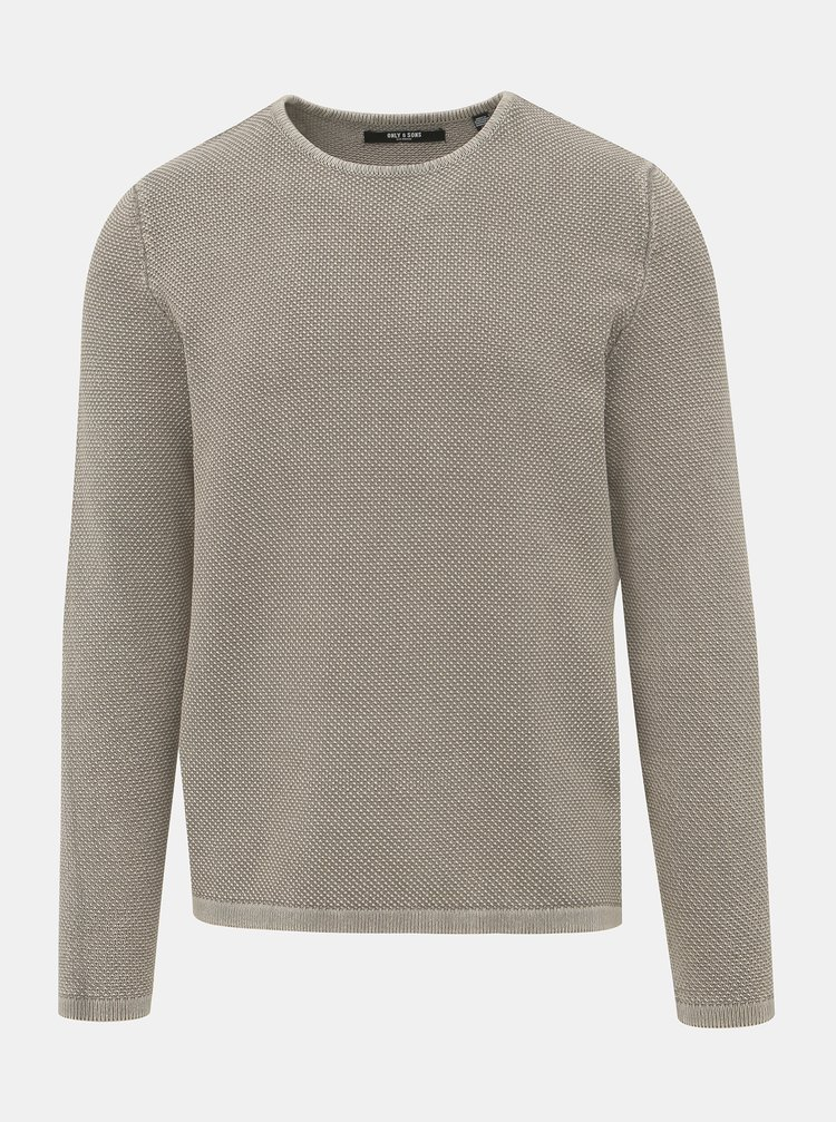 Šedý sveter ONLY & SONS Hugh