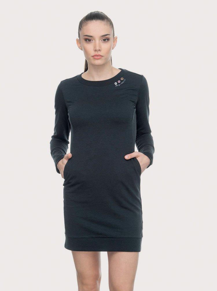 Černé mikinové šaty Ragwear Menita