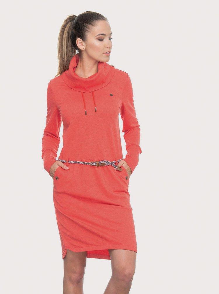 Červené mikinové šaty Ragwear Laurra