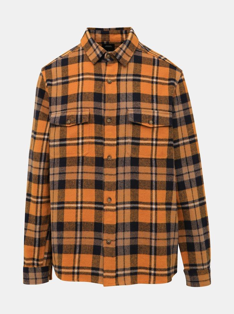 Oranžová kockovaná košeľa Burton Menswear London