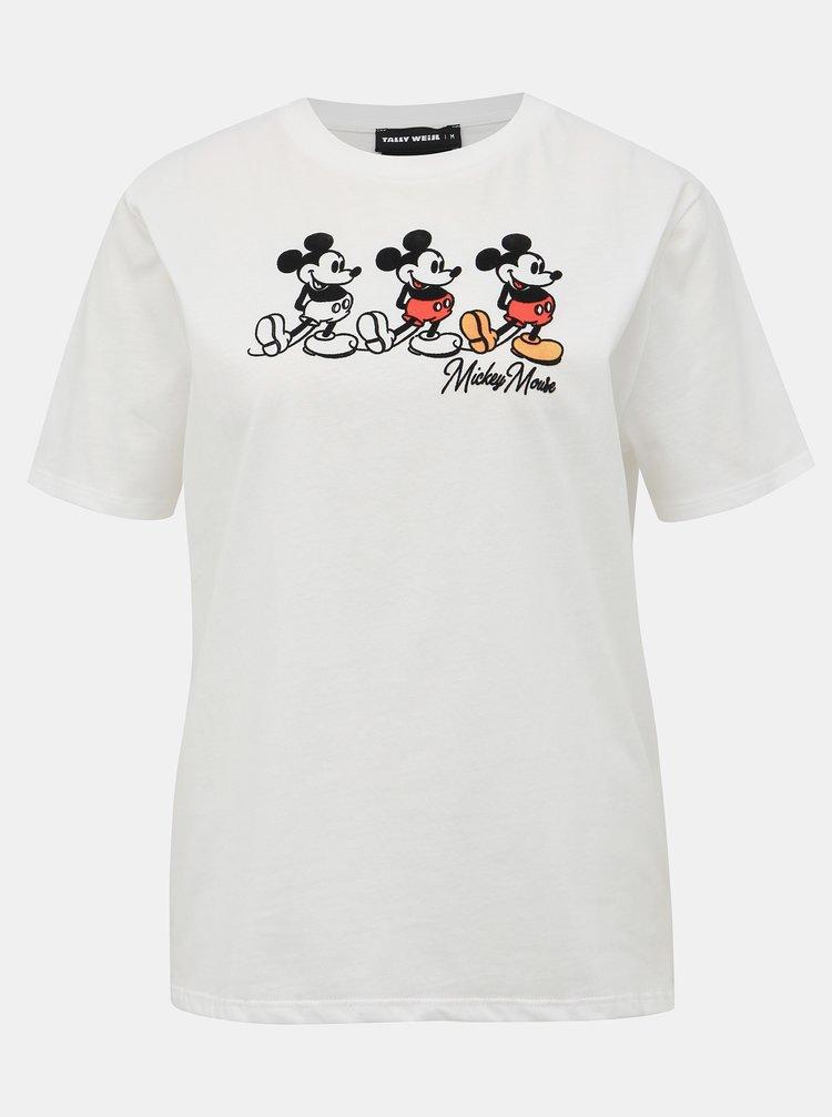 Biele tričko s potlačou TALLY WEiJL Disney Mickey