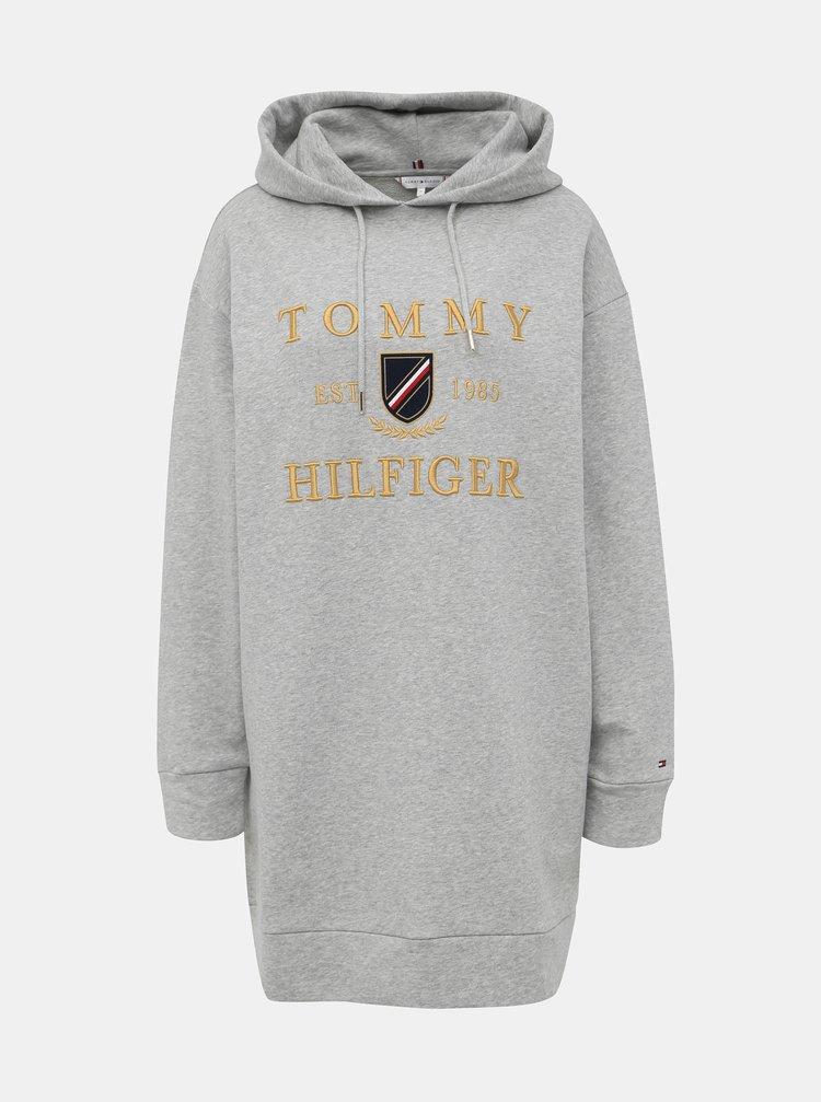Šedé mikinové šaty Tommy Hilfiger