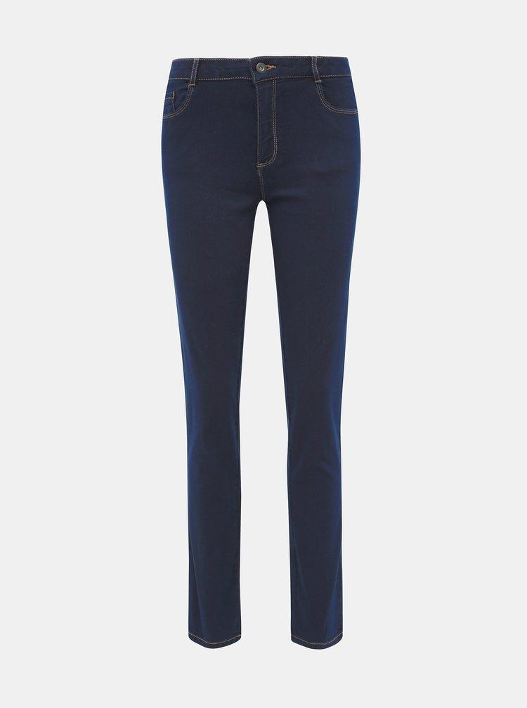 Tmavě modré prodloužené slim fit džíny Dorothy Perkins Ellis
