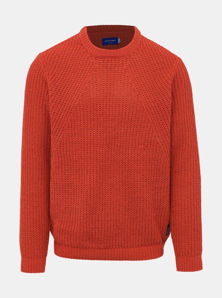 Oranžový svetr Jack & Jones Chen