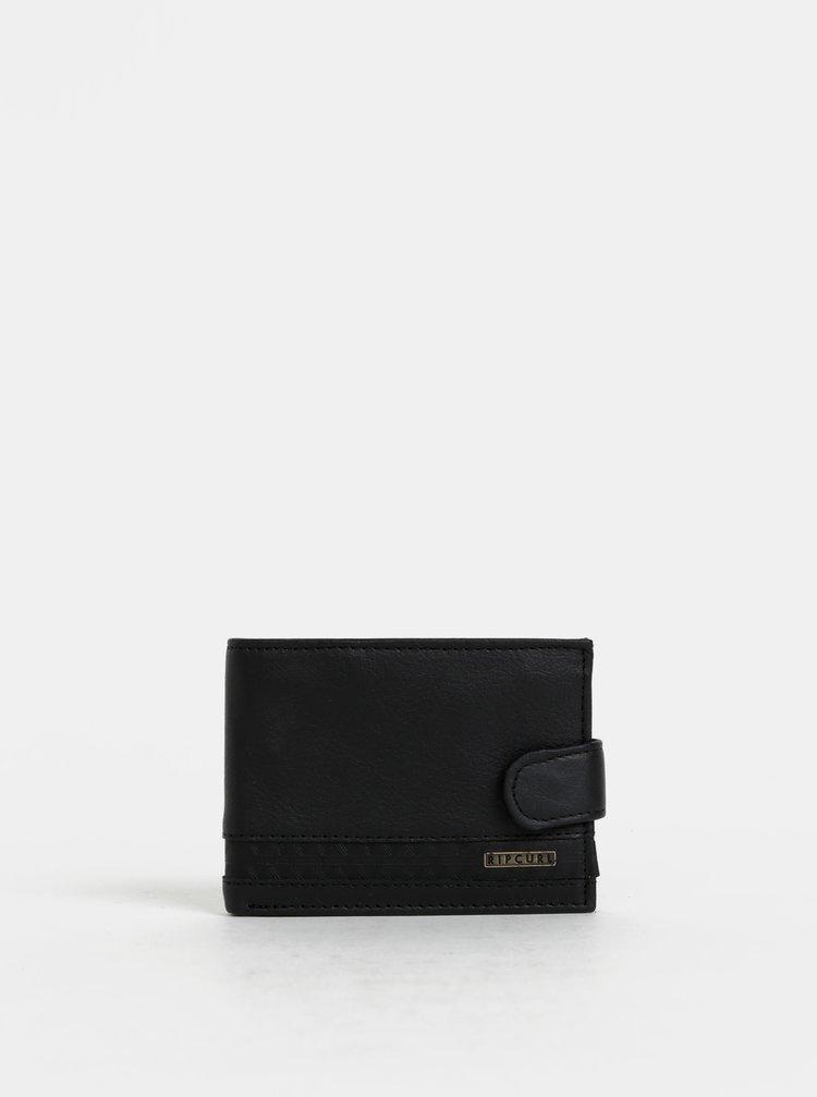 Čierna pánska kožená peňaženka Rip Curl Slaven