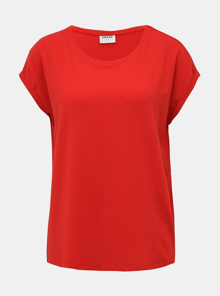Červené basic tričko AWARE by VERO MODA Ava