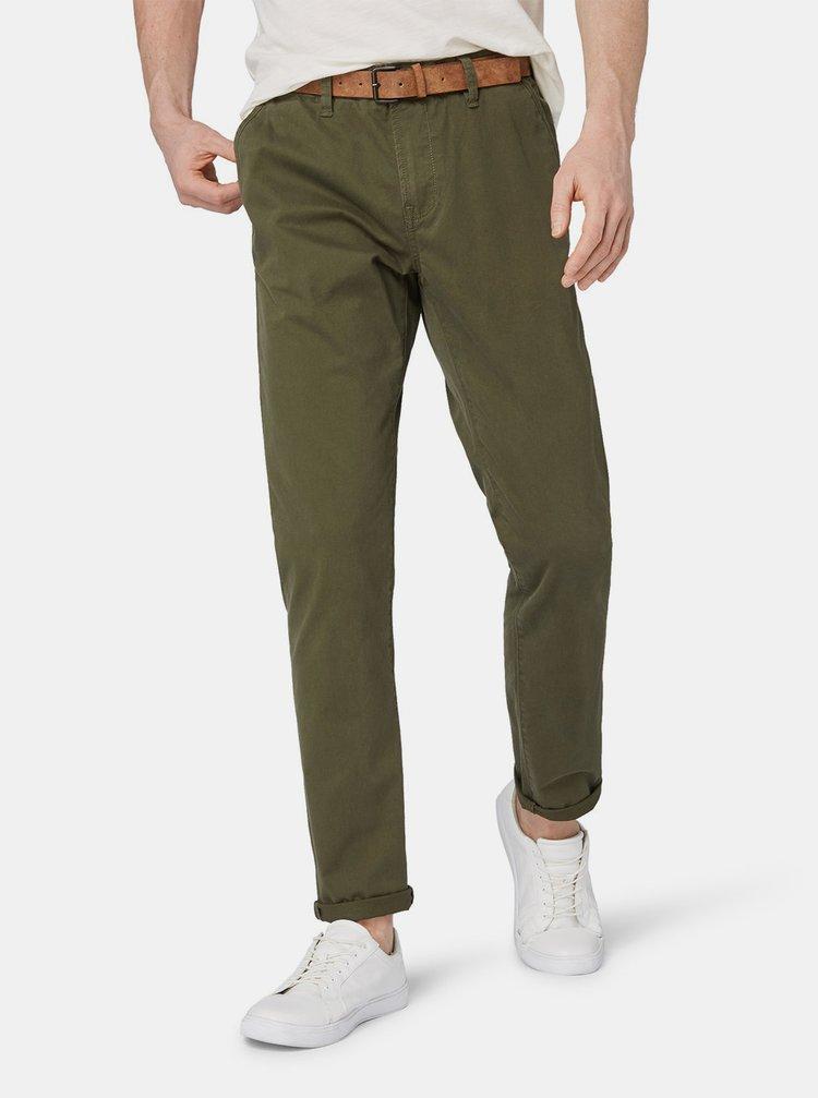 Khaki pánské chino kalhoty Tom Tailor Denim