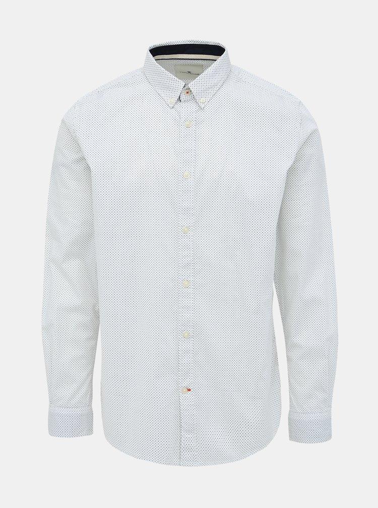 Bílá pánská vzorovaná regular fit košile Tom Tailor