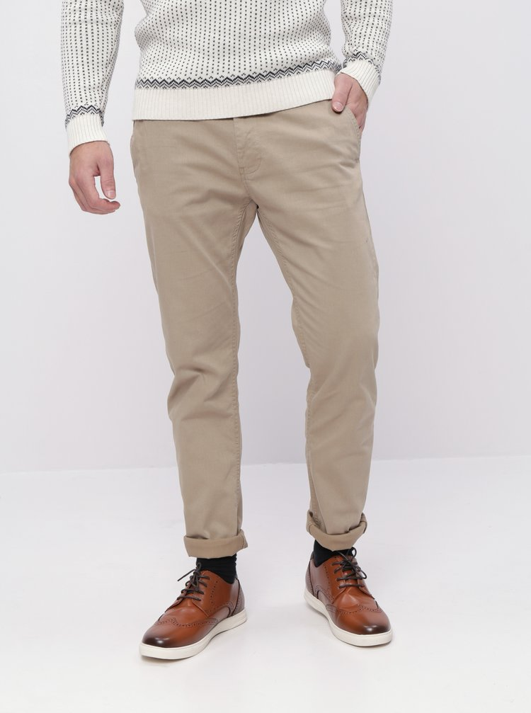 Béžové pánské chino kalhoty Tom Tailor