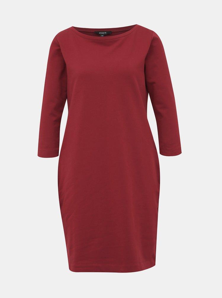 Vínové mikinové basic šaty ZOOT LOLA