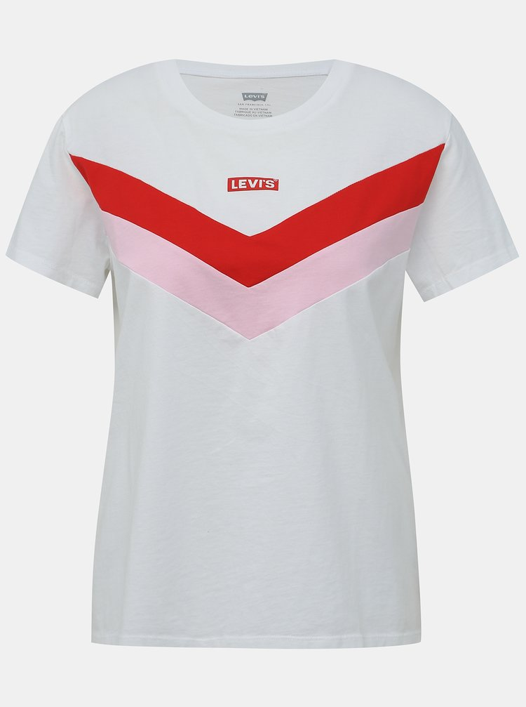 Červeno-bílé dámské tričko Levi's®