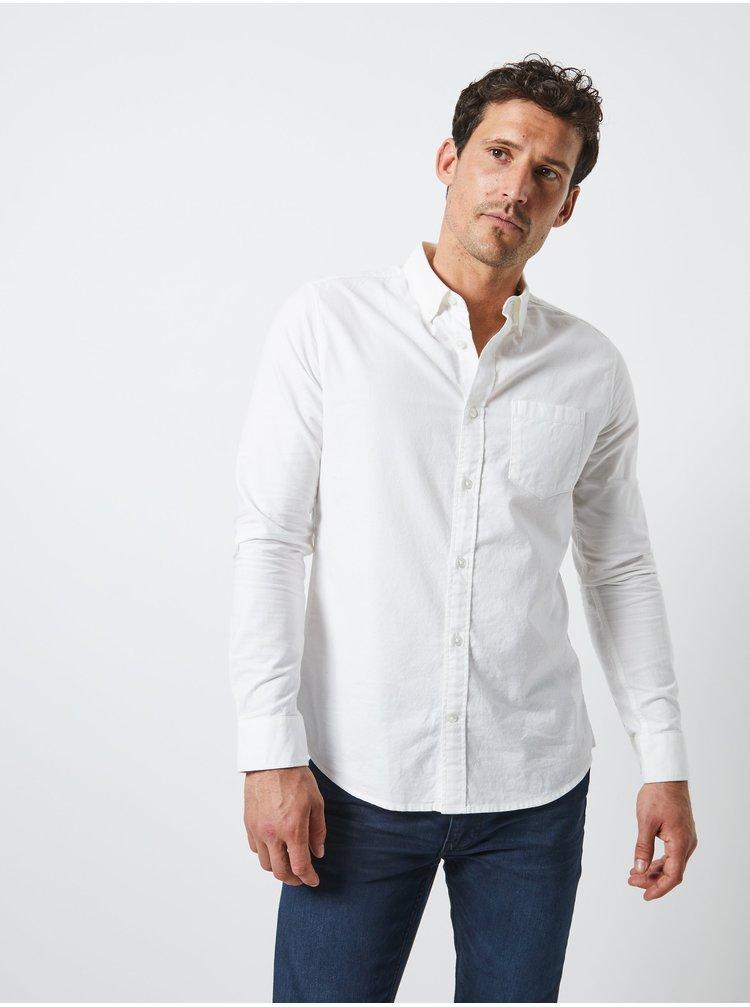 Biela košeľa s náprsným vreckom a dlhým rukávom Burton Menswear London