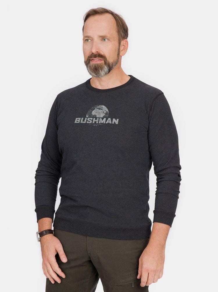 Tmavošedé pánske tričko s potlačou BUSHMAN Greeley