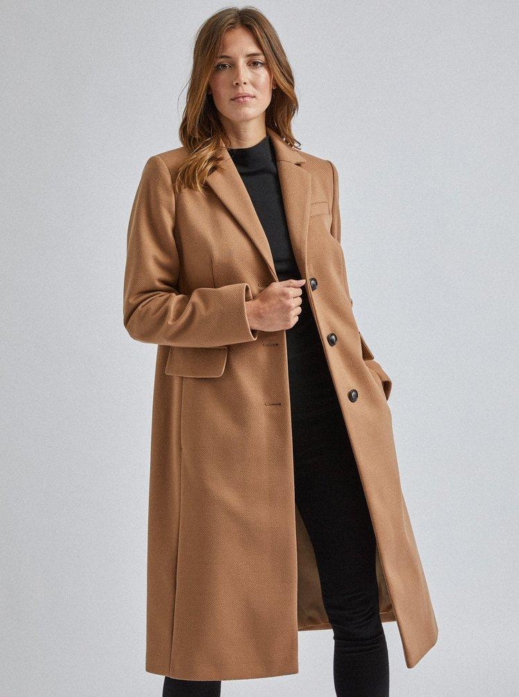 Hnědý kabát Dorothy Perkins