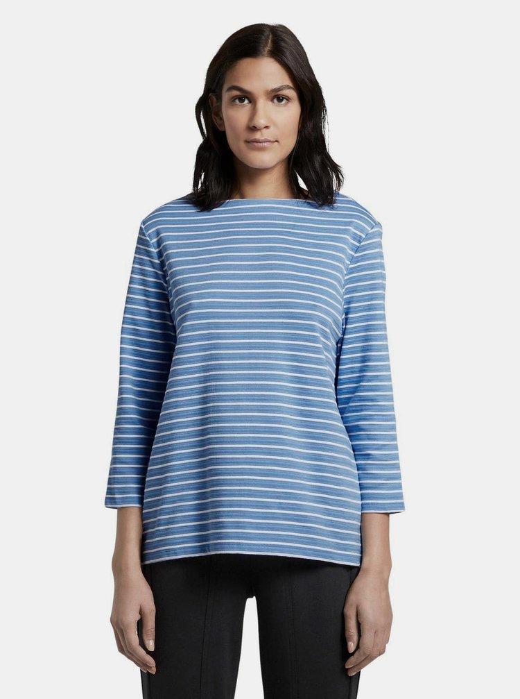 Modré dámské pruhované tričko Tom Tailor