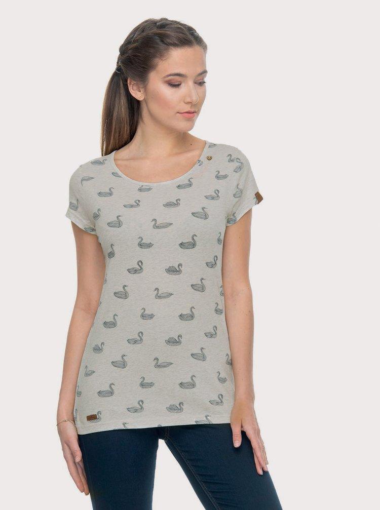 Světle šedé dámské tričko s potiskem Ragwear Mint Swans