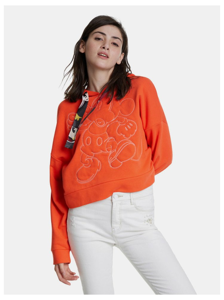 Oranžová krátká mikina Desigual