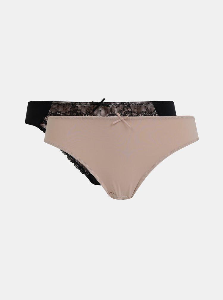Sada dvou kalhotek v černé a růžové barvě Dorina Chloe
