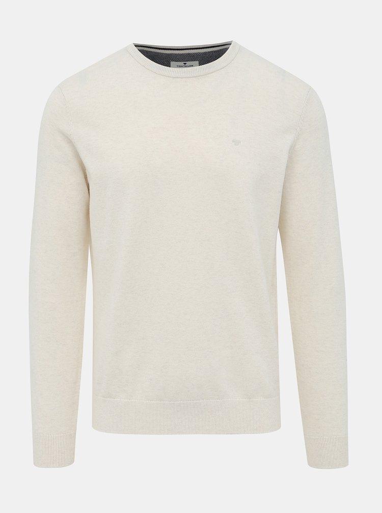 Krémový pánsky basic sveter Tom Tailor